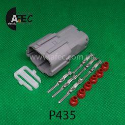 Автомобильный разъём герметичный штыревой 6-ти контактный серии 2,0 мм аналог YAZAKI 7222-7464-40