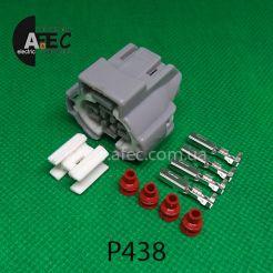 Автомобильный разъём герметичный гнездовой 4-х контактный серии 2,2 мм аналог SUMITOMO 6189-0647