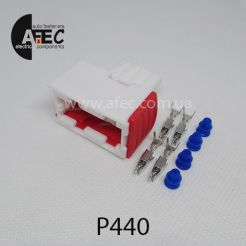 Автомобильный разъём герметичный гнездовой 4-х контактный серии 1,5 мм аналог AMP 144998-5