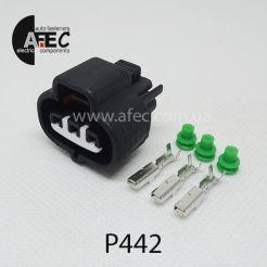 Разъем 3-х контактный гнездовой аналог Sumitomo 6189-0099 Toyota 90980-10845 (90980-12636)