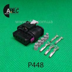 Авто разъем 5-ти контактный гнездовой серии 1,2мм аналог MCON TE 1-1718806-1