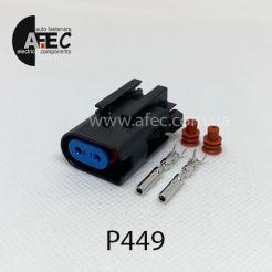 Авто разъем 2-х контактный гнездовой Ford WPT-1359 3U2Z-14S411-UDB