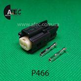 Авто разъем 2-х контактный гнездовой серии 1,2мм аналог Molex 33471-0201
