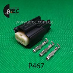 Авто разъем 3-х контактный гнездовой серии 1,2мм аналог Molex 33471-0301