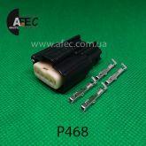 Авто разъем 4-х контактный гнездовой серии 1,2мм аналог Molex 33471-0401
