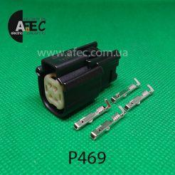 Авто разъем 4-х контактный гнездовой серии 1,2мм аналог Molex 33472-4001 33472-0401
