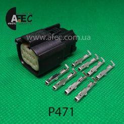 Авто разъем 8-ми контактный гнездовой серии 1,2мм аналог Molex 33472-0801