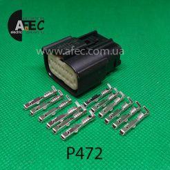 Авто разъем 12-ти контактный гнездовой серии 1,2мм аналог Molex 033472-1201