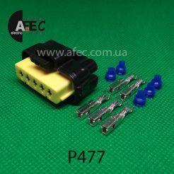 Авто разъем 4-х контактный гнездовой аналог FCI 211PC053S4026