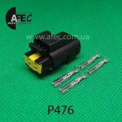 Авто разъем 4-x контактный гнездовой аналог FCI SICFHPE04BK