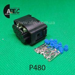 Авто разъем 8-ми контактный гнездовой аналог АМР 1-1534229-1