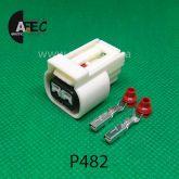 Авто разъем 2-х контактный гнездовой аналог AMP 936184-1
