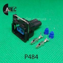 Авто разъем 2-х контактный Т-образный гнездовой аналог DELPHI 60400601