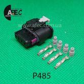 Авто разъем 4-х контактный гнездовой аналог AMP 1-1456426-1 1-1456426-5 1488991-1 1488991-5