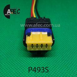 Авто разъем 4-х контактный аналог P221 со смещенными направляющими