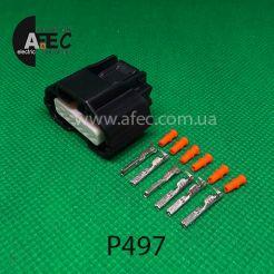 Автомобильный разъём герметичный гнездовой 6-ти контактный аналог Yazaki 7283-8850-30