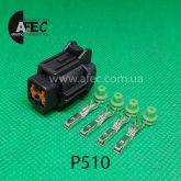 Автомобильный разъём гнездовой 4-х контактный аналог Sumitomo 66185-1169 KUM PB295-04020