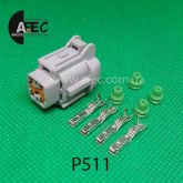 Автомобильный разъём гнездовой 4-х контактный аналог Sumitomo 6185-1171 KUM PB295-04120