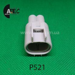 Автомобильный разъём штыревой 2-х контактный аналог AMP 176143-2 6-176143-6 368327-1
