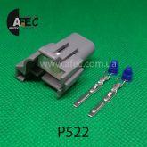 Автомобильный разъём штыревой 2-х контактный аналог GM 89046649 PT1697 для катушки зажигания 96165049 1115467 правый