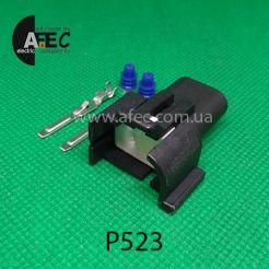 Автомобильный разъём штыревой 2-х контактный аналог PT1909 GM 88860464 для катушки зажигания 96165049 1115467 левый