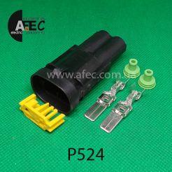Автомобильный разъём штыревой 2-х контактный аналог TE 1544334-1
