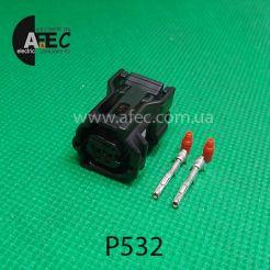 Автомобильный разъём гнездовой 2-х контактный аналог Sumitomo 6189-1161 Toyota 90980-12416 серии TS SEALED