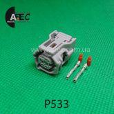 Автомобильный разъём гнездовой 2-х контактный аналог Sumitomo 6189-7073 Toyota 90980-12572 серии TS SEALED