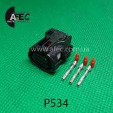 Автомобильный разъём гнездовой 3-х контактный аналог Sumitomo 6189-1129 Toyota 90980-12353 серии TS SEALED