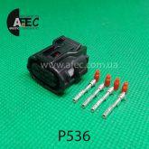 Автомобильный разъём гнездовой 4-х контактный аналог Sumitomo 6189-7401 серии TS SEALED
