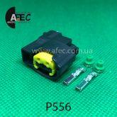Авто разъём гнездовой 2-х контактный аналог MOLEX 49093-0211
