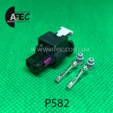 Разъем 2-х контактный гнездовой аналог Volkswagen 4F0 973 702 AMP 0-2112986-1 1-1718643-1