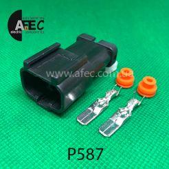 Разъем 2-х контактный штыревой аналог YAZAKI 7157-6720-40