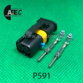 Разъем 2-х контактный штыревой аналог LEAR 18286 000 002