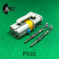 Разъем 2-х контактный штыревой аналог LEAR 18385 000 002