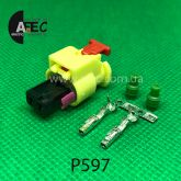 Разъем 2-х контактный гнездовой аналог AMP 1-1718643-4 Volkswagen 6R0 973 323