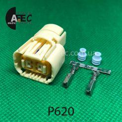 Разъем 2-х контактный гнездовой для лампы P13W