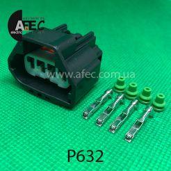 Разъем 4-х контактный гнездовой аналог 7283-5885-30 WPT-1293 Ford 3U2Z-14S411-UC