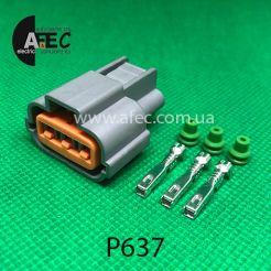 Разъем 3-х контактный гнездовой аналог PU465-03127
