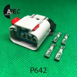 Разъем 4-х контактный гнездовой аналог 54200410