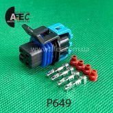 Разъём 4х контактный гнездовой аналог DELPHI 12160482 AC Delco PT2054 GM 88988598