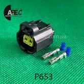 Разъём 2х контактный гнездовой аналог AMP 184000-1 Toyota 90980-10734 Motrcraft WPT-357 Ford 3U2Z-14S411-HVA