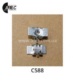 Клипса металлическая под винт на радиатор бампер GM 15686142