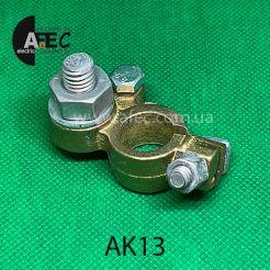 Аккумуляторная клемма минусовая под болт d10