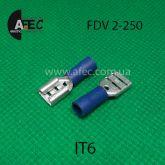 Клемма изолированная гнездовая (мама) серии 6.3 мм под кабель 1.5-2.5мм2 FDV2-250