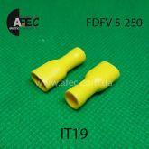 Клемма  изолированная гнездовая (мама) серии 6.3 мм под кабель 4-6мм (FDFV5-250)