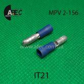 Клемма частично изолированная штыревая (папа)  серии d4 мм под кабель 1.5-2,5мм (MPD2-156)