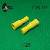 Клемма изолированная гнездовая (мама) d5 мм под кабель 4-6мм FRV5-195