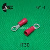 Клемма кольцевая d4мм под кабель 0,5-1,5мм2 RV1-4