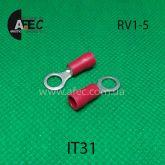 Клемма кольцевая d5мм под кабель 0,5-1,5мм2 RV1-5